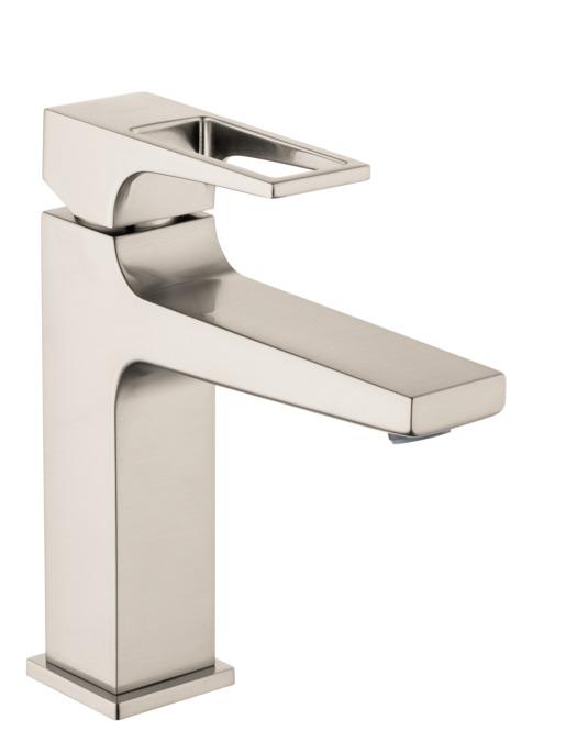 metropol washbasin faucets brushed nickel 74506821. Black Bedroom Furniture Sets. Home Design Ideas