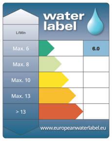 Water Label - 6l/min - 2013
