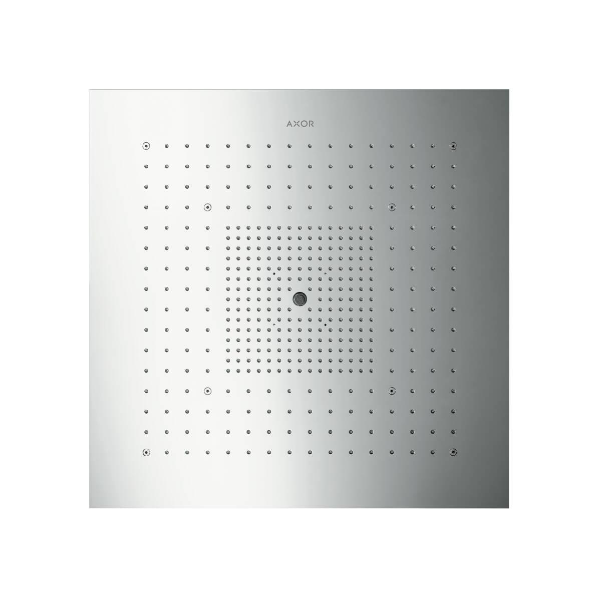 ShowerHeaven 720 x 720mm sin luz, color acero, 10625800