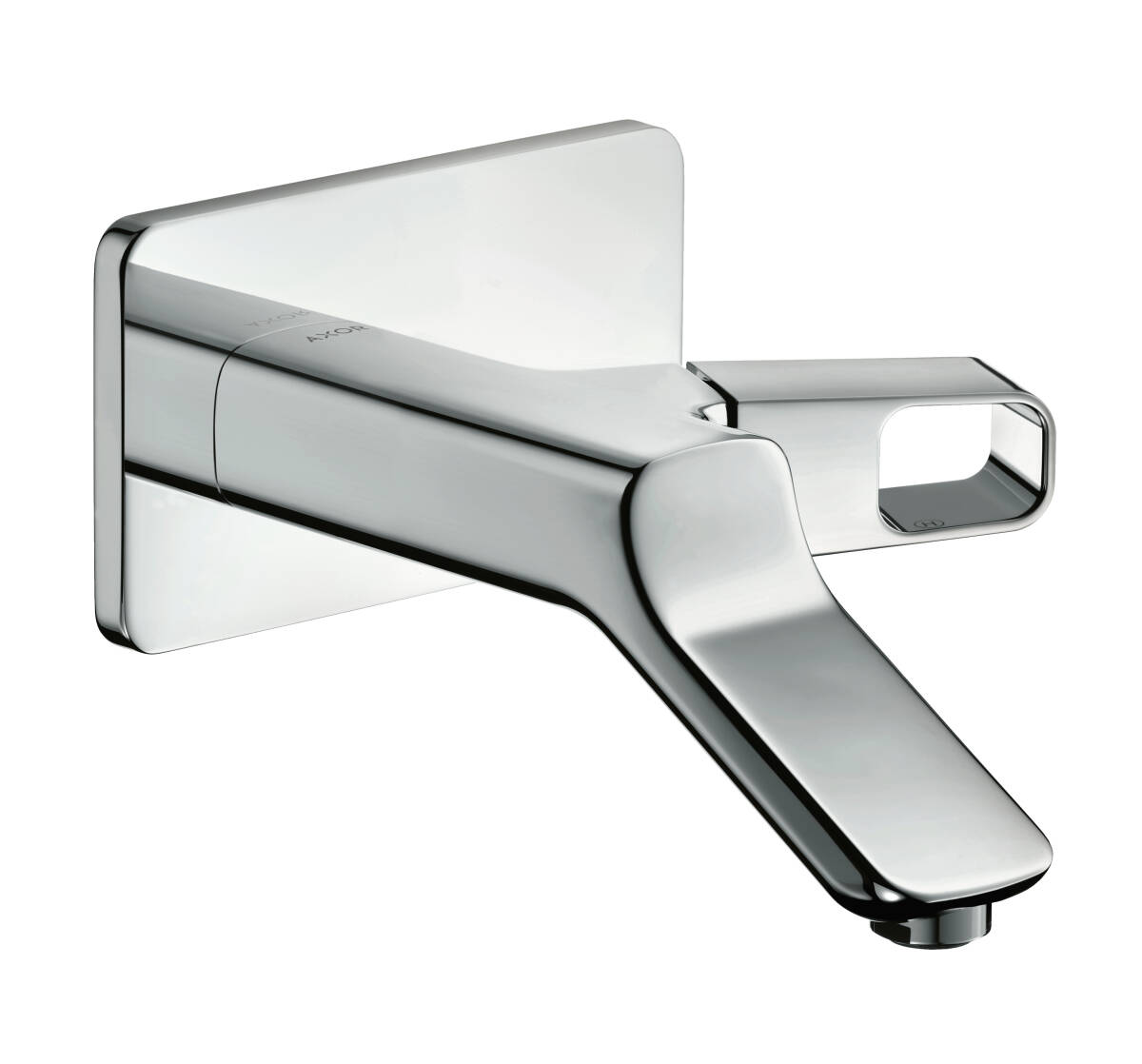 Single lever basin mixer for concealed installation wall-mounted with spout 200 mm, Brushed Gold Optic, 11026250