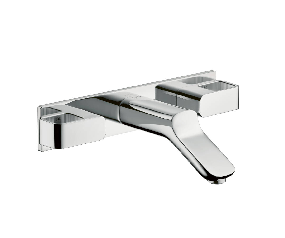 3-hole basin mixer for concealed installation wall-mounted with spout 168 mm, Chrome, 11042000