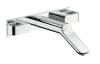 3-hole basin mixer for concealed installation with spout 228 mm wall-mounted