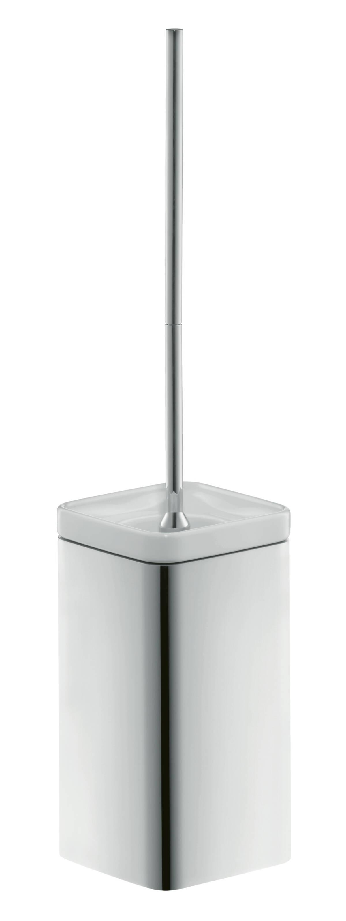 Toilet brush holder wall-mounted, Chrome, 42435000