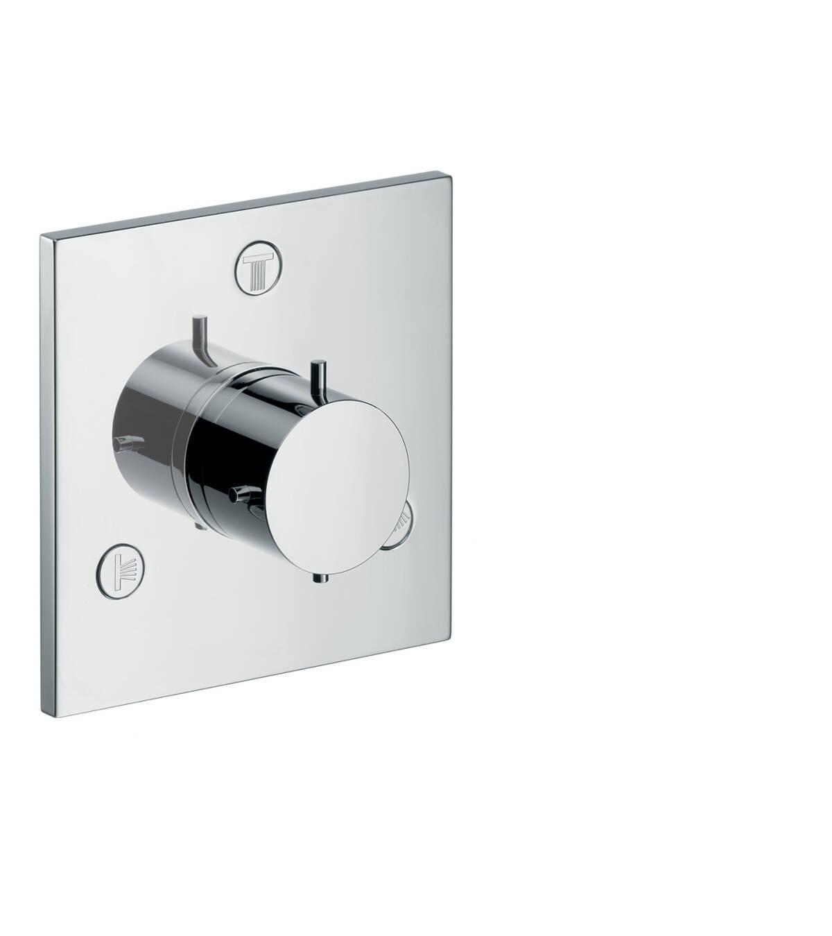 Shut-off/ diverter valve Trio/ Quattro for concealed installation, Brushed Chrome, 10934260