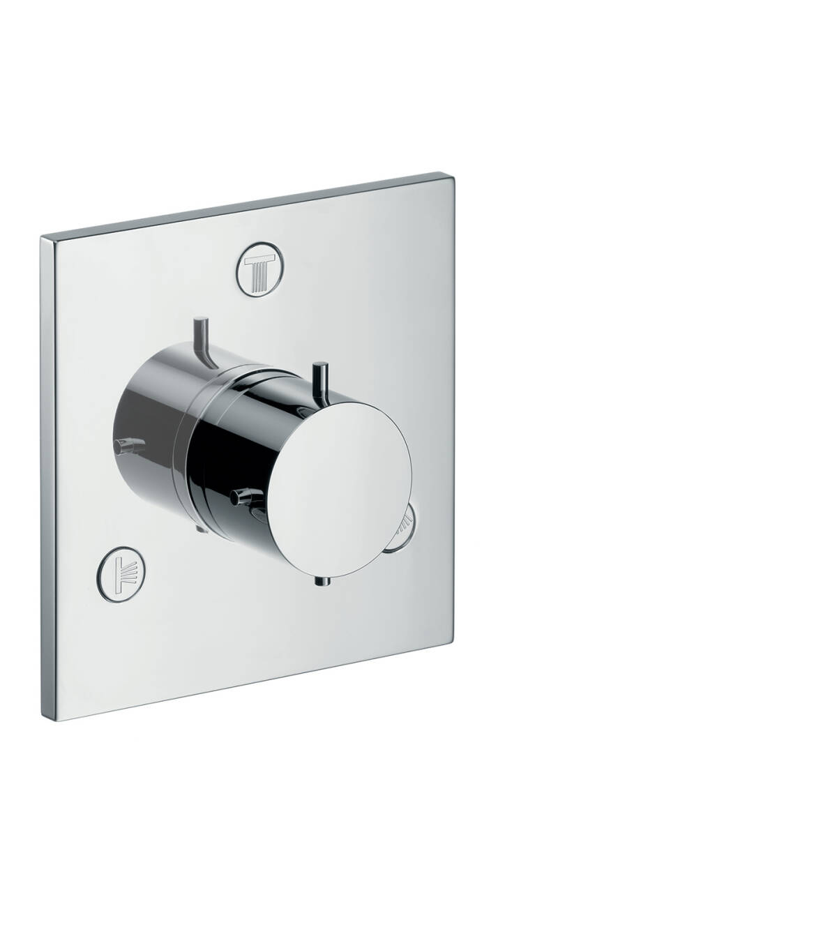 Shut-off/ diverter valve Trio/ Quattro for concealed installation, Brushed Black Chrome, 10934340