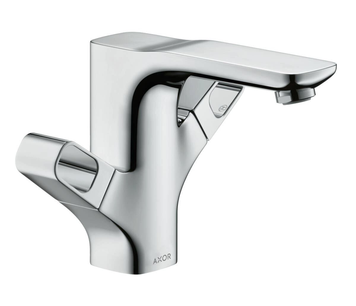 2-handle basin mixer 120 with pop-up waste set, Brushed Nickel, 11024820
