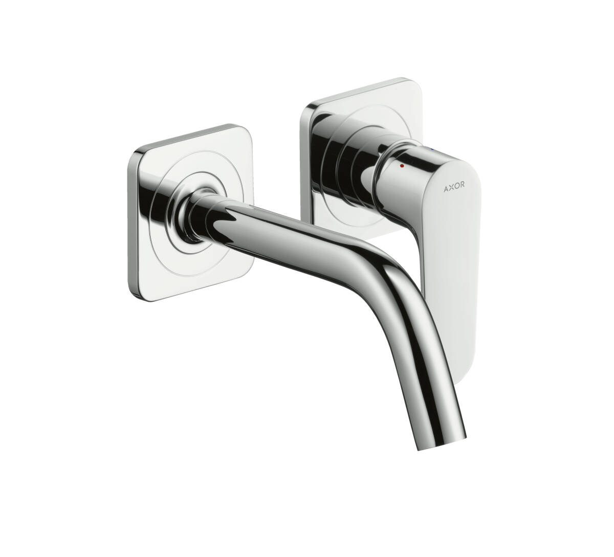 Single lever basin mixer for concealed installation wall-mounted with spout 167 mm and escutcheons, Chrome, 34113000