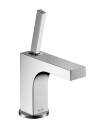 Single lever basin mixer 90 with pin handle for hand washbasins with pop-up waste set