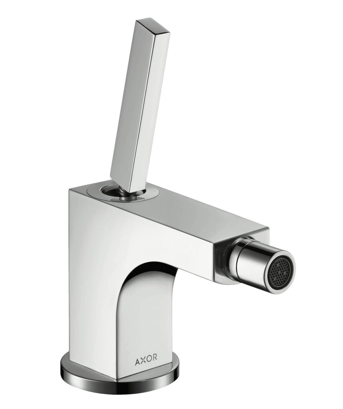 Single lever bidet mixer with pop-up waste set, Chrome, 39210000