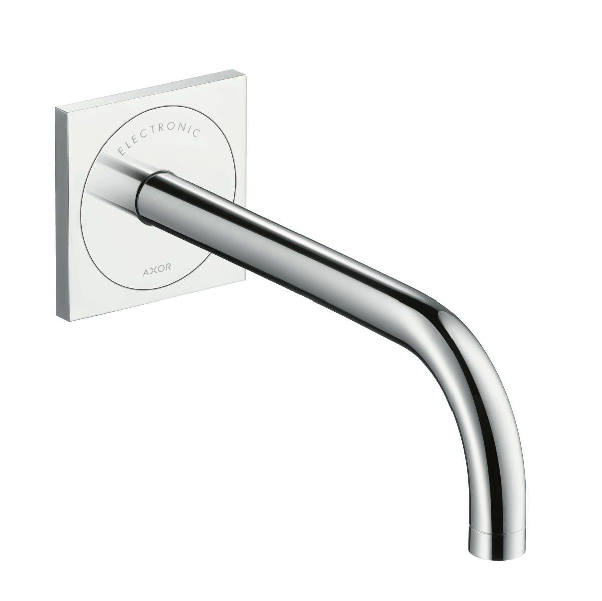 Electronic basin mixer for concealed installation with spout 225 mm wall-mounted, Chrome, 38120000