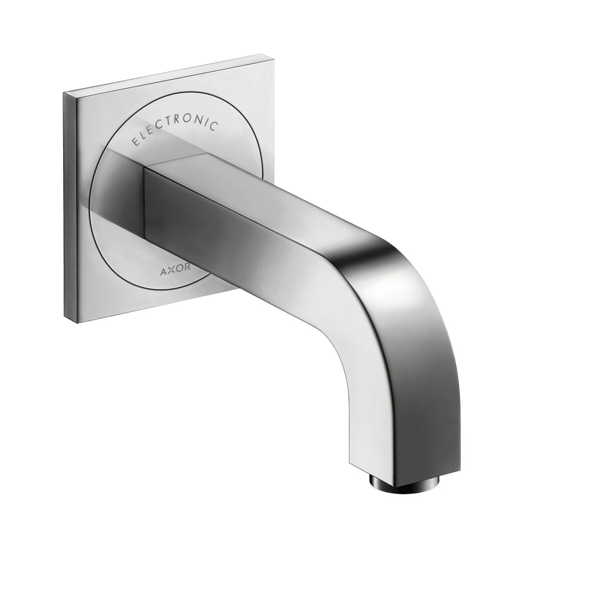 Electronic basin mixer for concealed installation wall-mounted with spout 161 mm, Stainless Steel Optic, 39117800