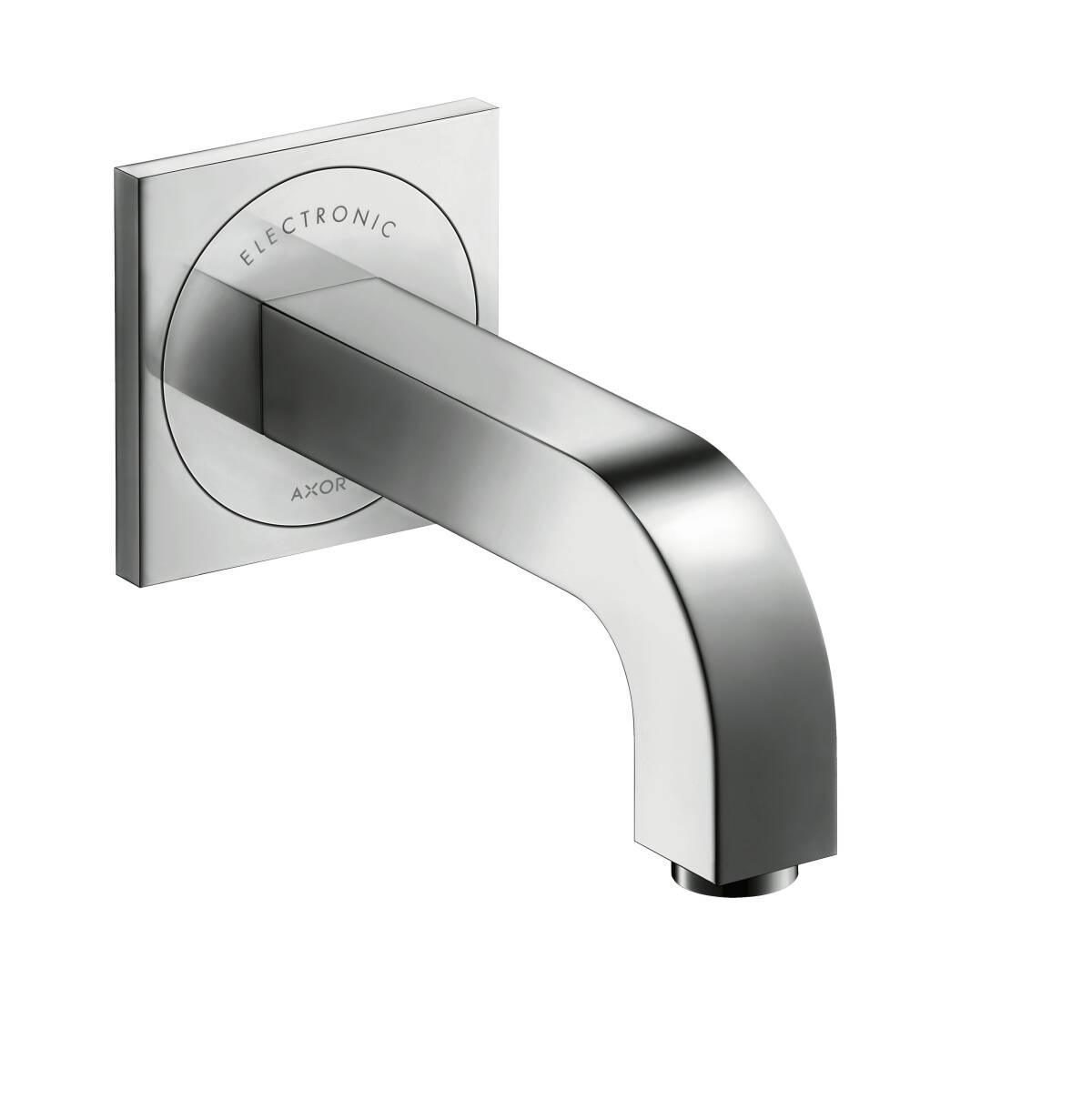 Elektronik-Waschtischmischer Unterputz mit Auslauf 160 mm für Wandmontage, Chrom, 39117000