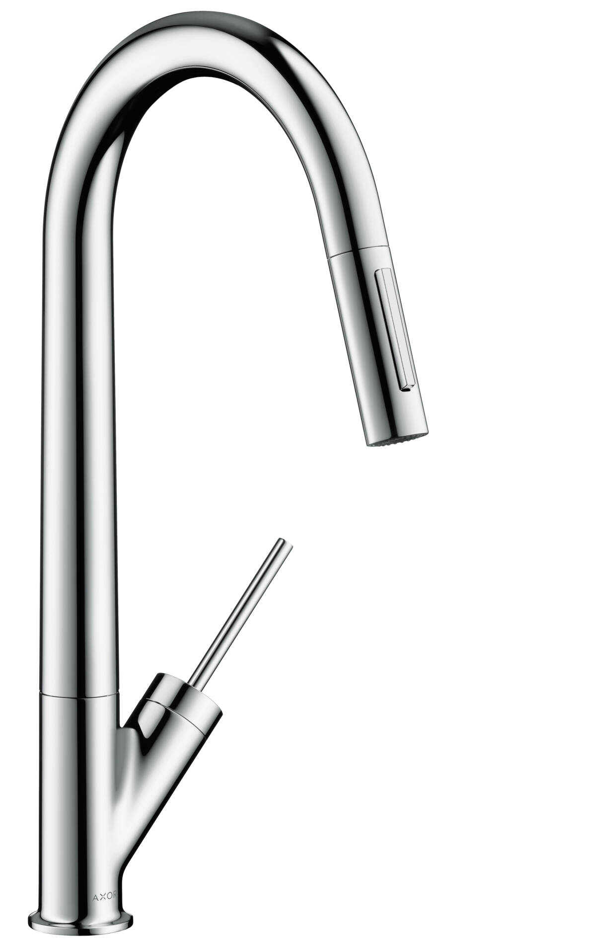 Single lever kitchen mixer 270 with pull-out spray, Brushed Black Chrome, 10821340
