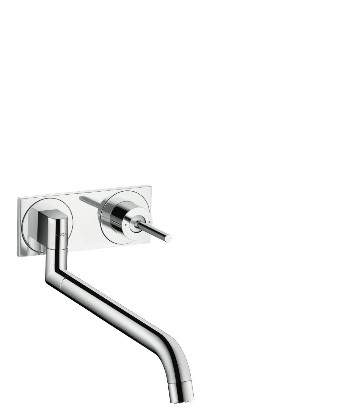 Einhebel-Küchenmischer Unterputz für Wandmontage, Chrom, 38815000