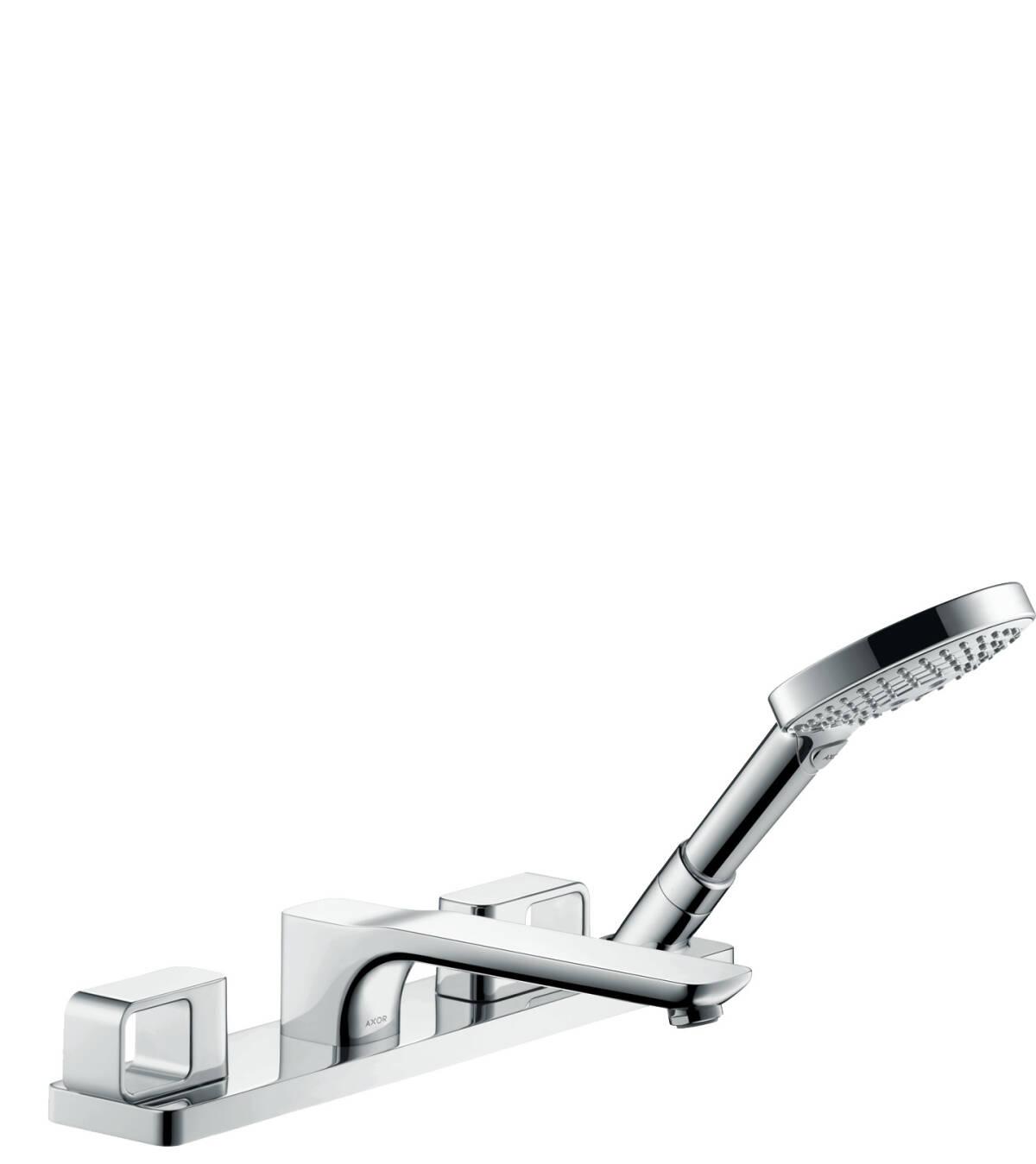 4-hole rim mounted bath mixer, Chrome, 11443000