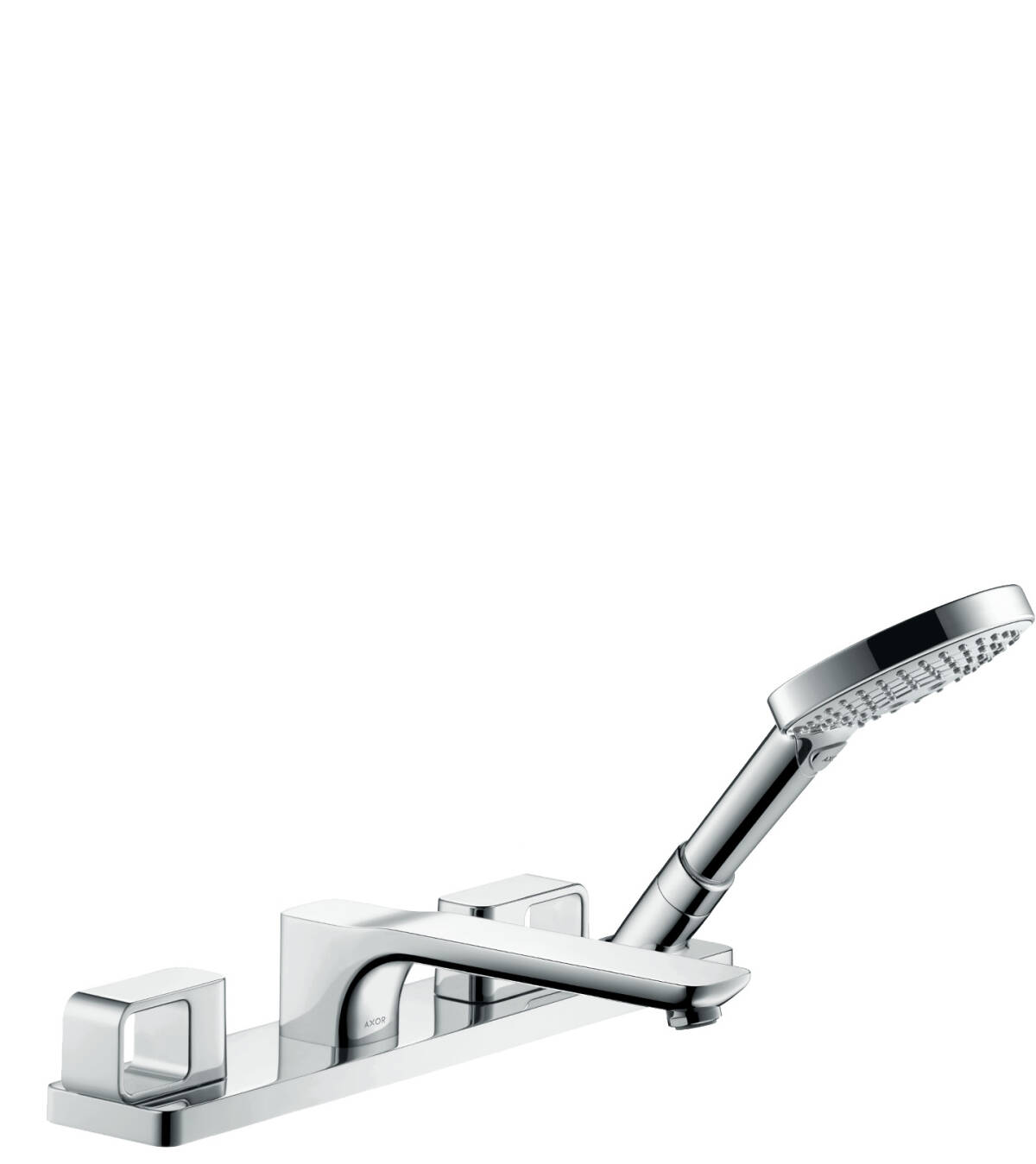 4-hole tile mounted bath mixer, Polished Gold Optic, 11445990