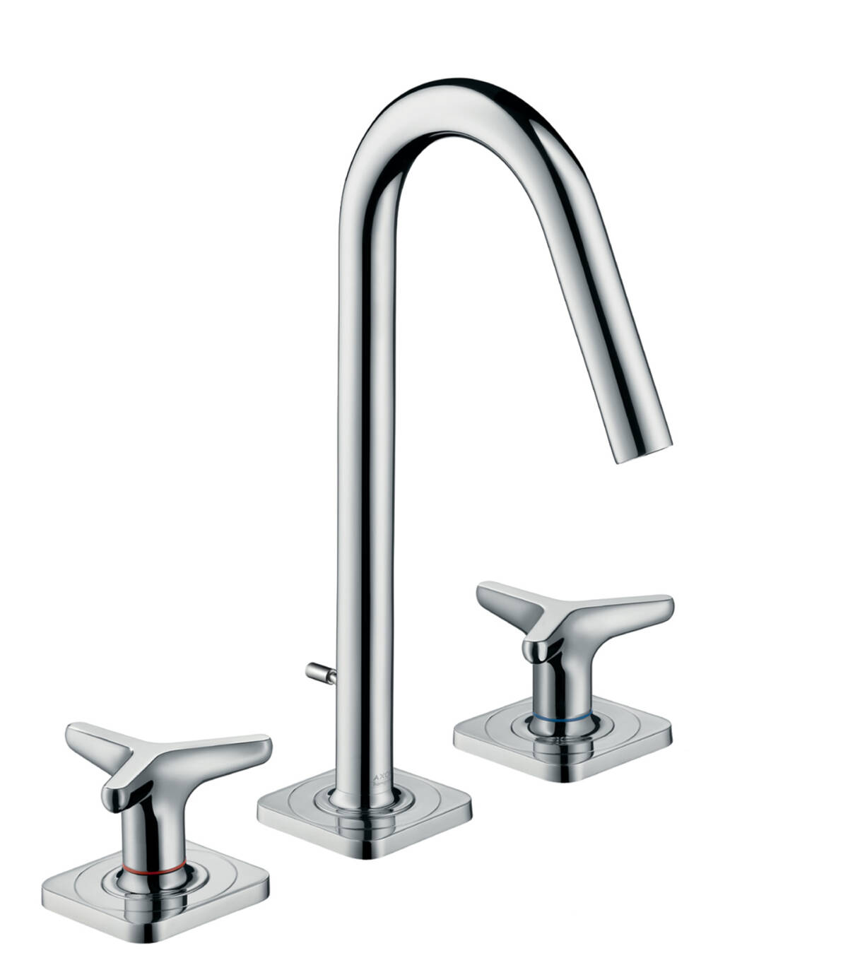 3-hole basin mixer 160 with star handles, escutcheons and pop-up waste set, Chrome, 34135000