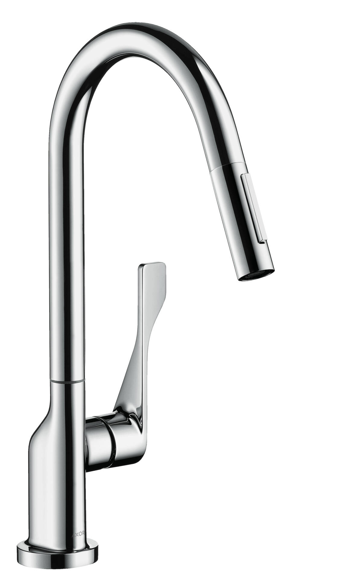 Single lever kitchen mixer with pull-out spray, Brushed Chrome, 39835260