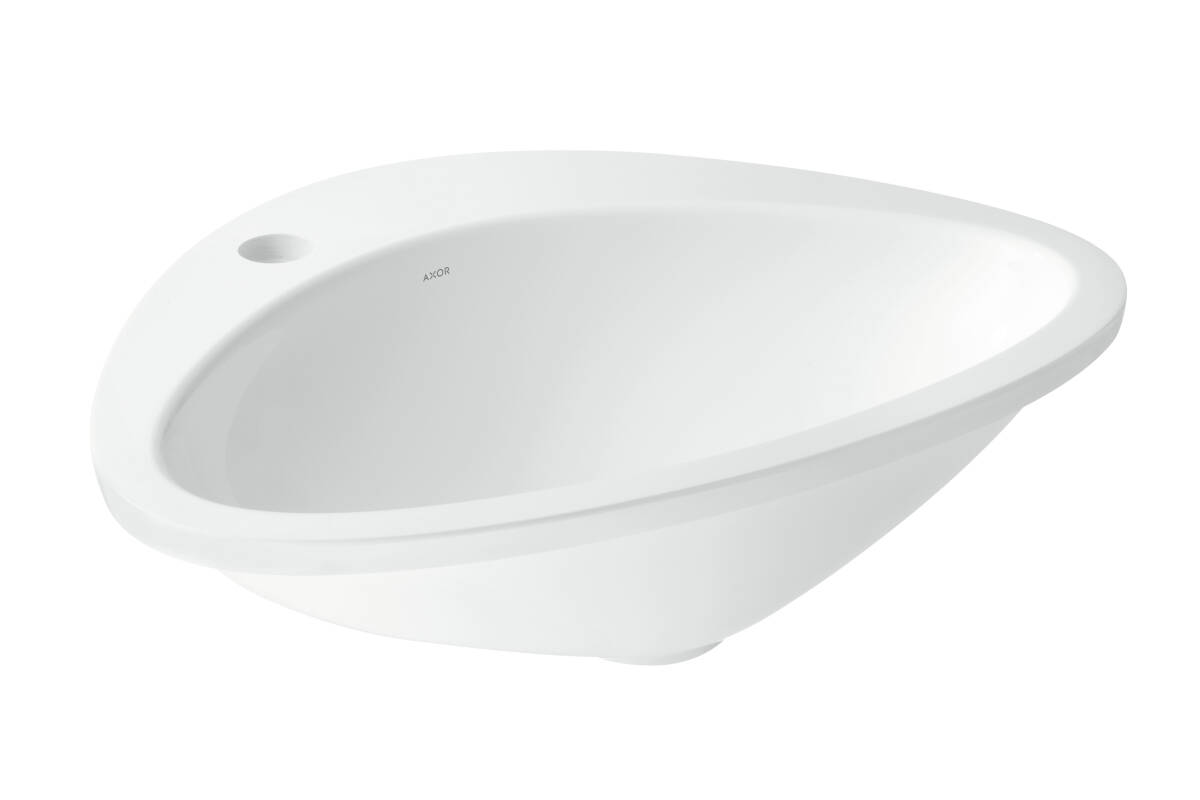 Built-in wash basin 585/469 with 1-boreholing, White, 42310000