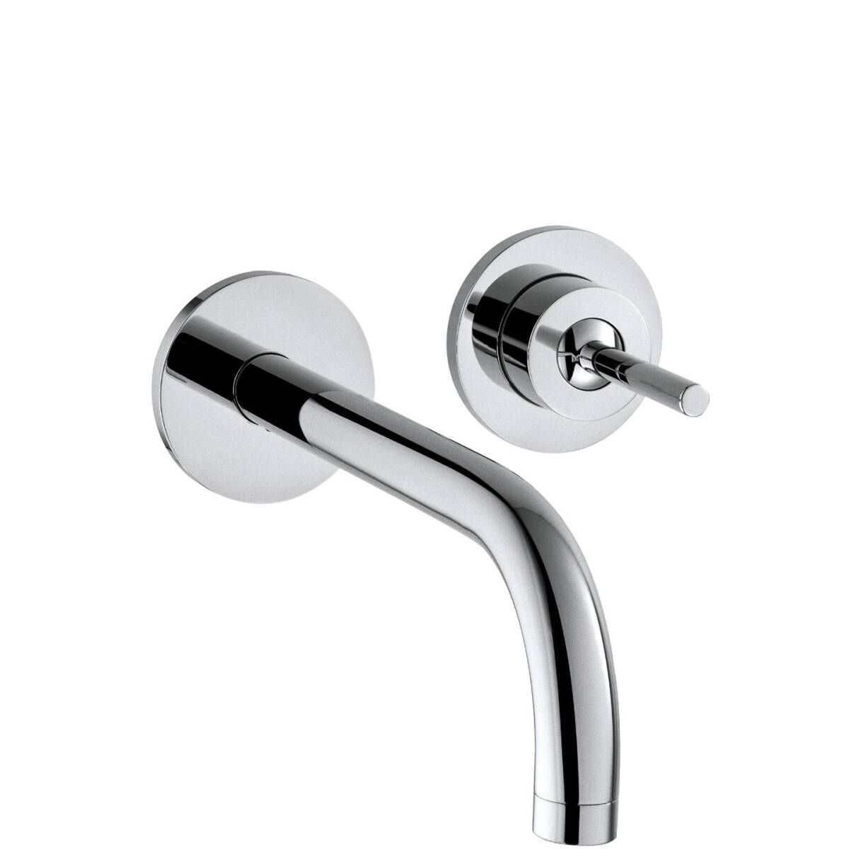 Single lever basin mixer for concealed installation with spout 225 mm and escutcheons wall-mounted, Chrome, 38116000