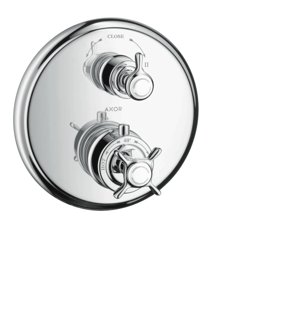 Thermostat Unterputz mit Ab- und Umstellventil, Chrom, 16820000