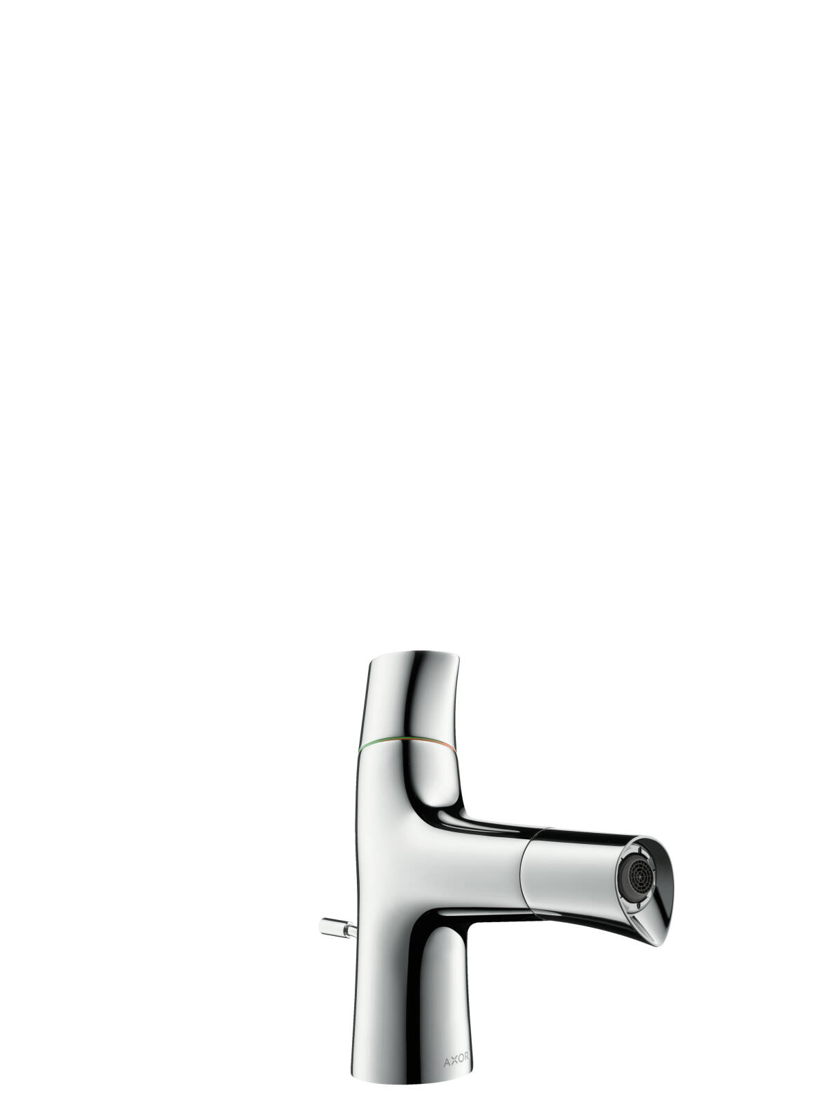 2-handle bidet mixer with pop-up waste set, Stainless Steel Optic, 12210800