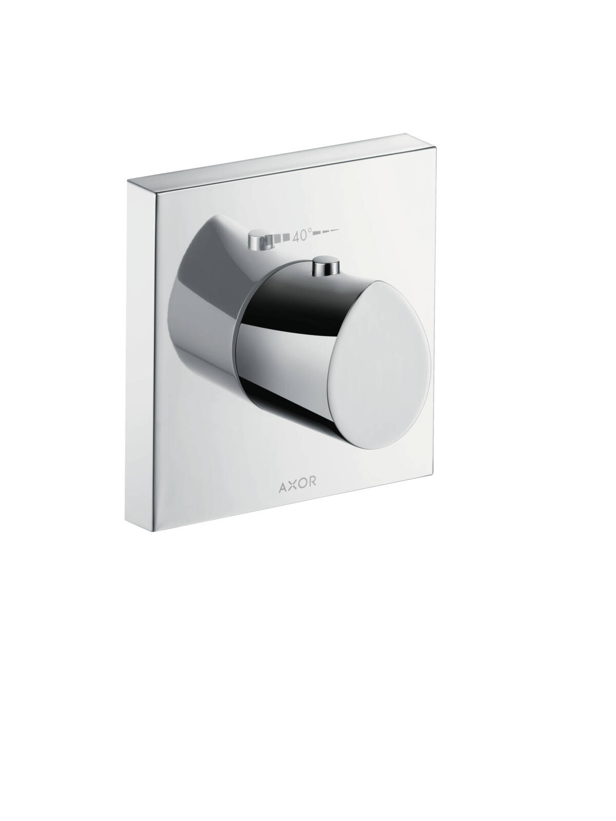 Thermostatic mixer highflow 120/120 for concealed installation, Stainless Steel Optic, 12712800