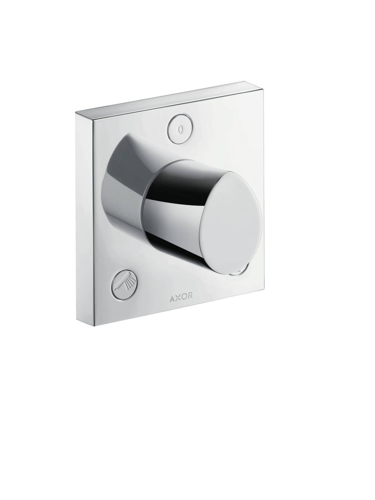 Trio/ Quattro shut-off/ diverter valve 120/120 for concealed installation, Brushed Black Chrome, 12731340
