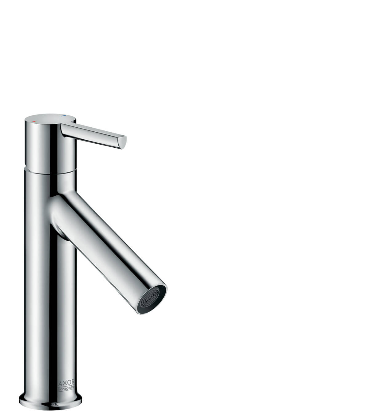 Single lever basin mixer 100 with lever handle and waste set, Chrome, 10003000