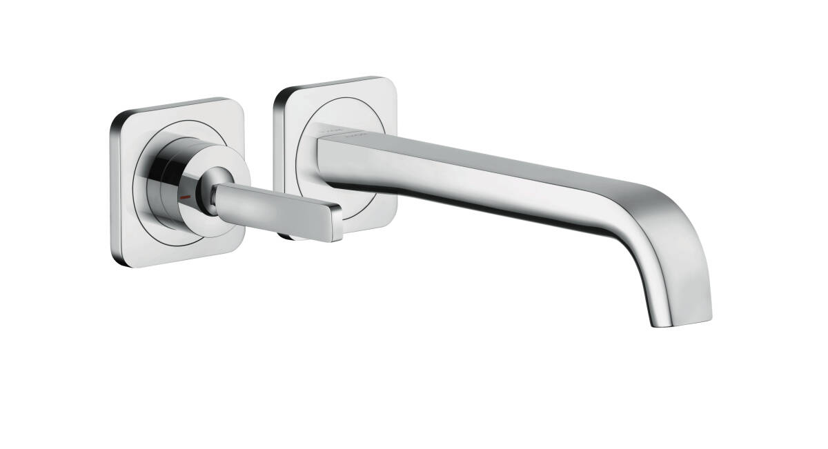 Single lever basin mixer for concealed installation wall-mounted with spout 221 mm and escutcheons, Chrome, 36106000