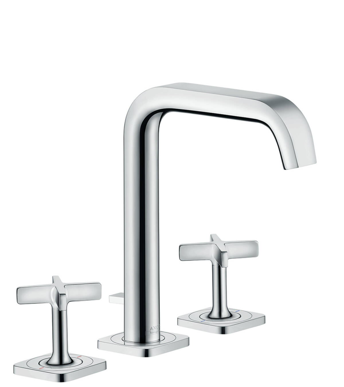 3-hole basin mixer 170 with escutcheons and pop-up waste set, Chrome, 36108000