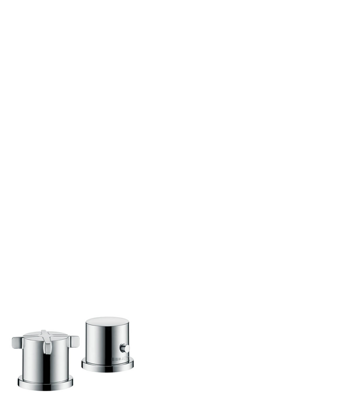 2-hole rim mounted thermostatic bath mixer, Chrome, 36412000