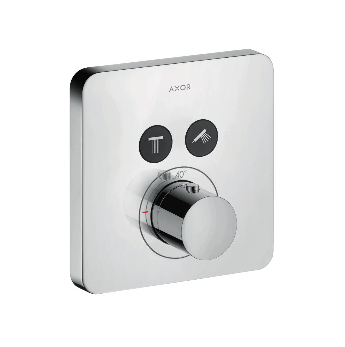 Thermostat for concealed installation softcube for 2 functions, Chrome, 36707000