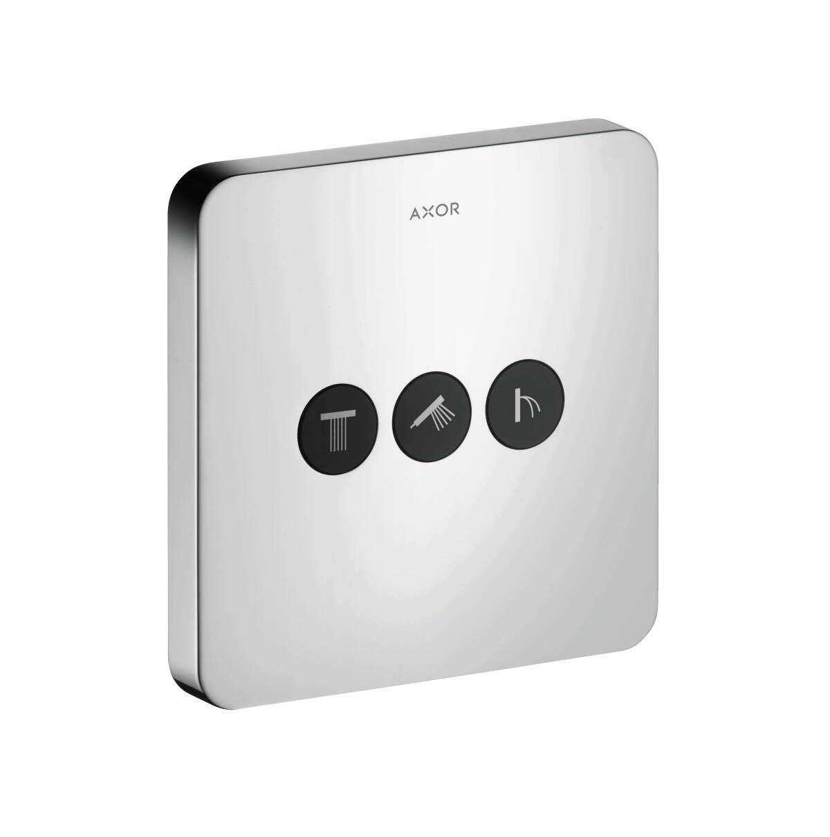 Ventil Unterputz softcube für 3 Verbraucher, Chrom, 36773000