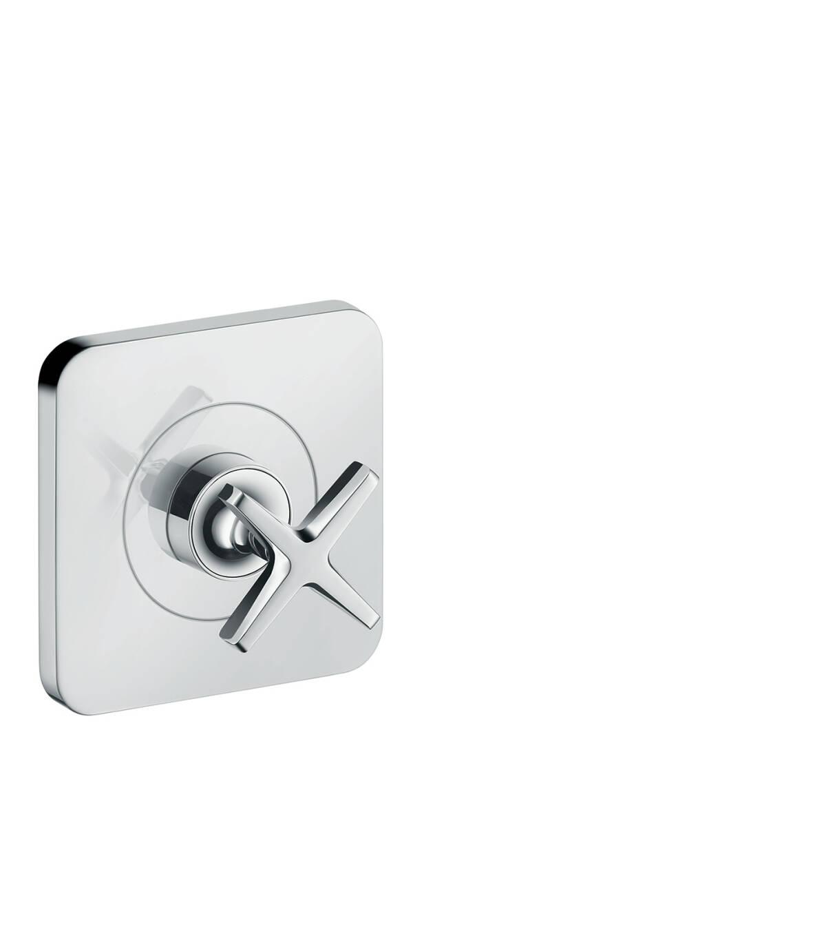 Shut-off valve 120/120 for concealed installation, Brushed Chrome, 36771260