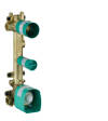 Basic set for thermostatic module 380/120 for concealed installation for 2 functions