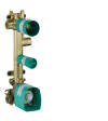 Basic set for thermostatic module 380/120 for concealed installation for 3 functions