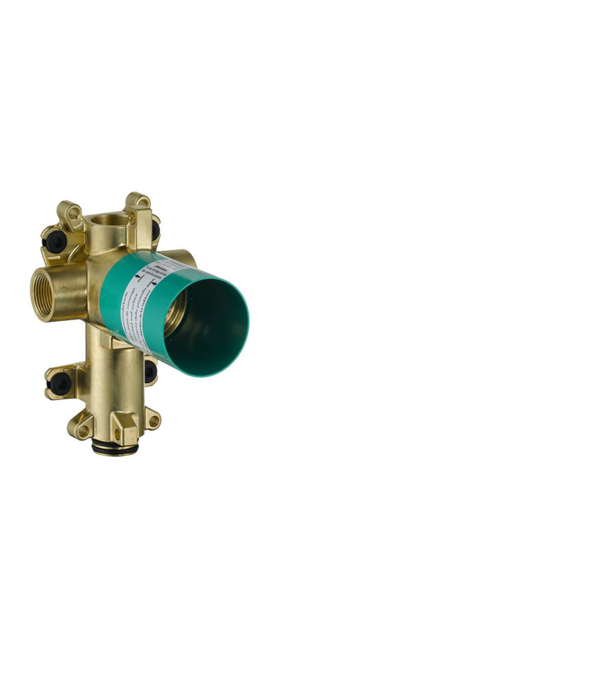 Basic set for shut-off/ diverter valve Trio 120/120 for concealed installation, n.a., 36770180