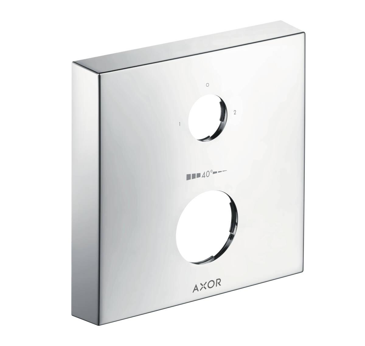 Extension escutcheon square two hole 0-1-2, Chrome, 14969000