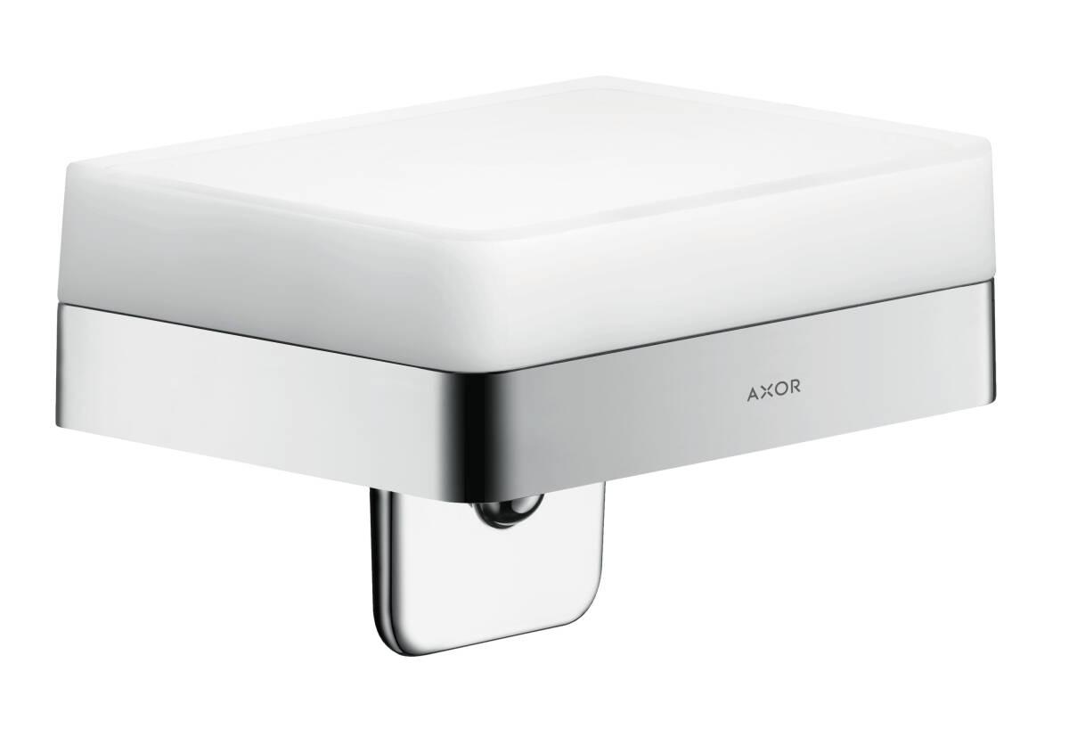 Liquid soap dispenser with shelf, Chrome, 42819000