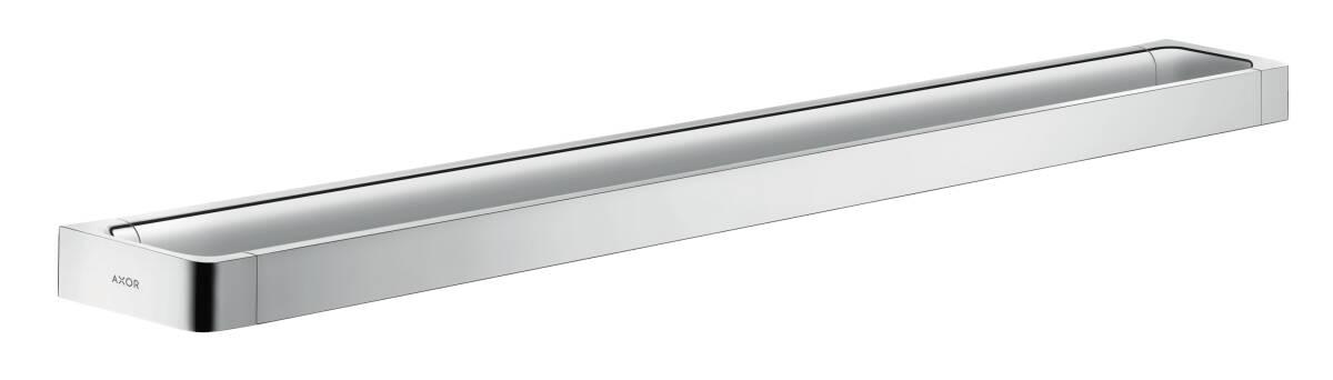 Rail bath towel holder 800 mm, Chrome, 42833000