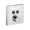 Thermostat for concealed installation square for 2 functions