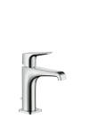 Single lever basin mixer 125 with lever handle with pop-up waste set