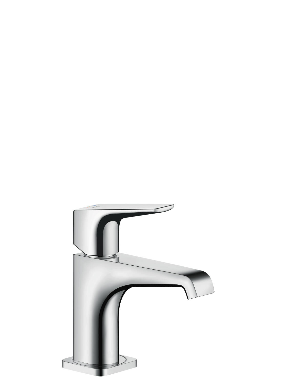 Single lever basin mixer 90 with lever handle for hand washbasins with waste set, Polished Black Chrome, 36112330