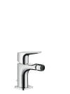 Single lever bidet mixer with lever handle with pop-up waste set