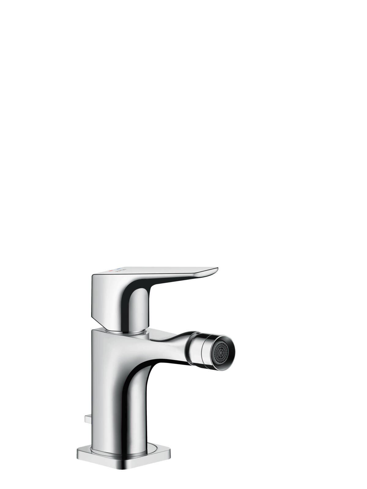 Single lever bidet mixer with lever handle with pop-up waste set, Brushed Bronze, 36121140