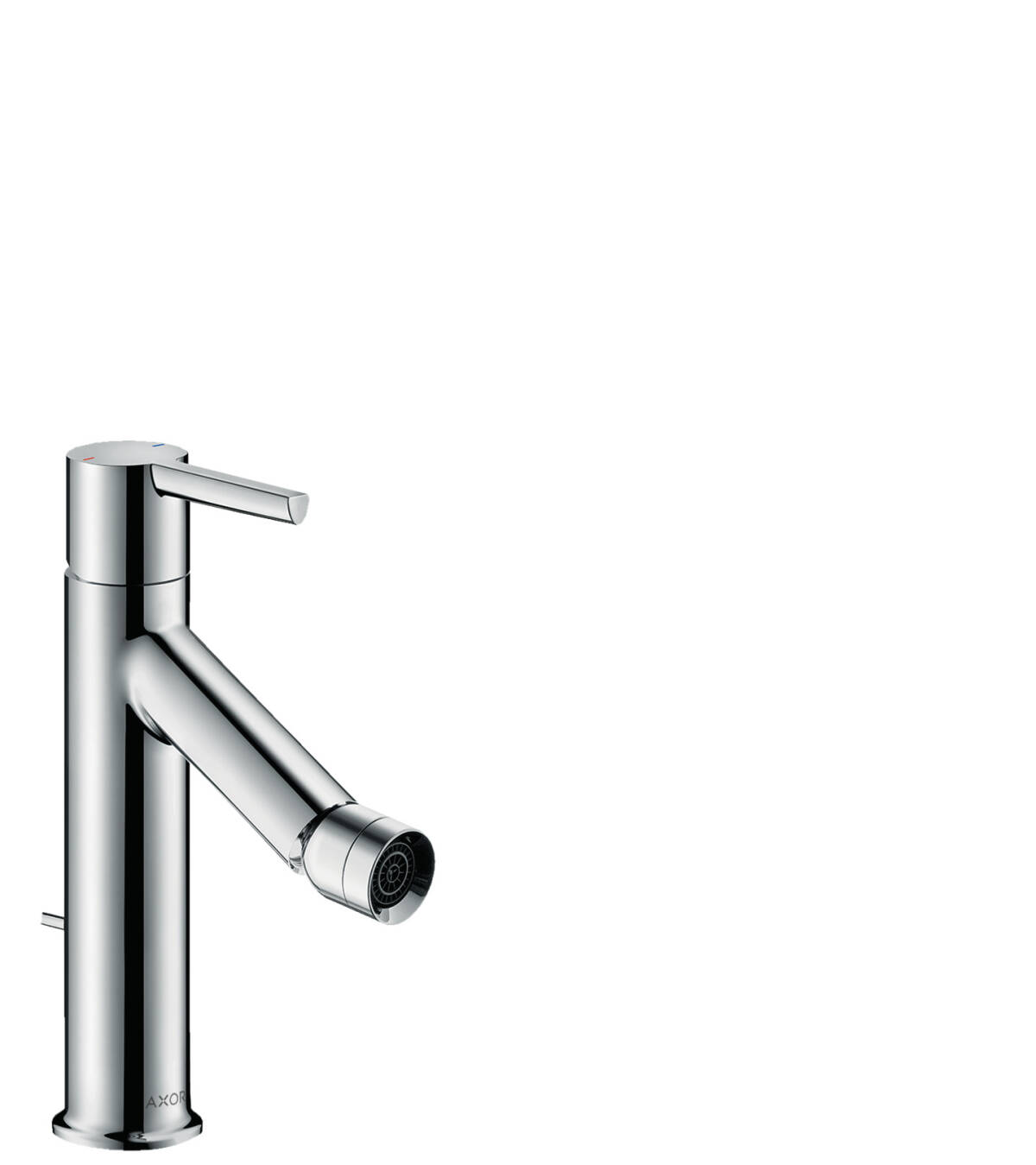 Single lever bidet mixer with lever handle and pop-up waste set, Chrome, 10214000