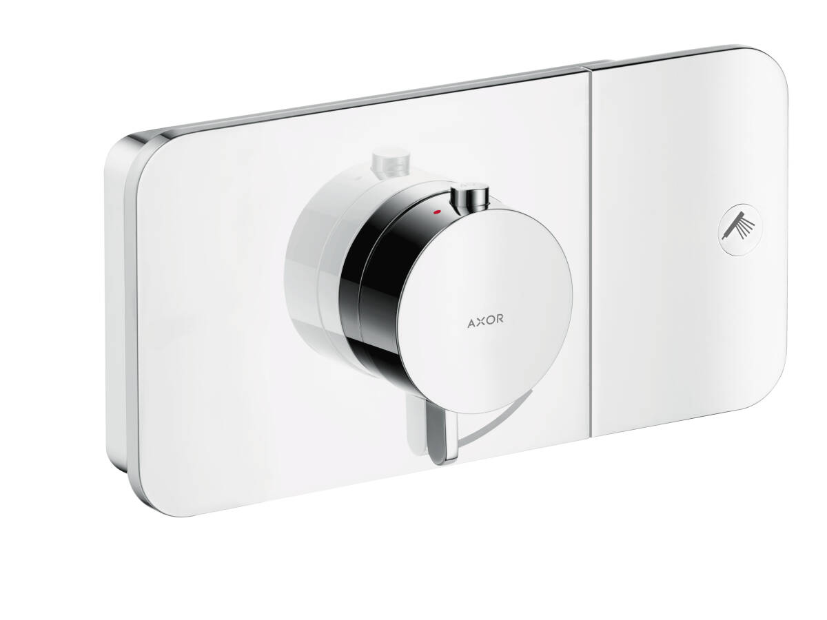 Thermostatic module for concealed installation for 1 function, Polished Black Chrome, 45711330