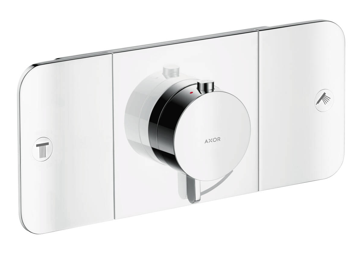 One thermostatic module, for 2 outlets for concealed installation, Chrome, 45712000