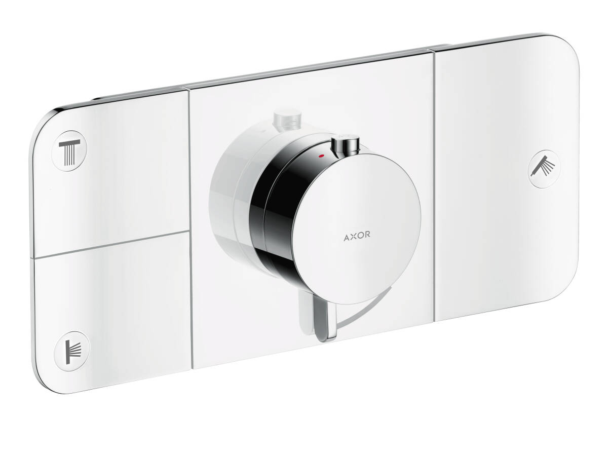 One thermostatic module, for 3 outlets for concealed installation, Chrome, 45713000